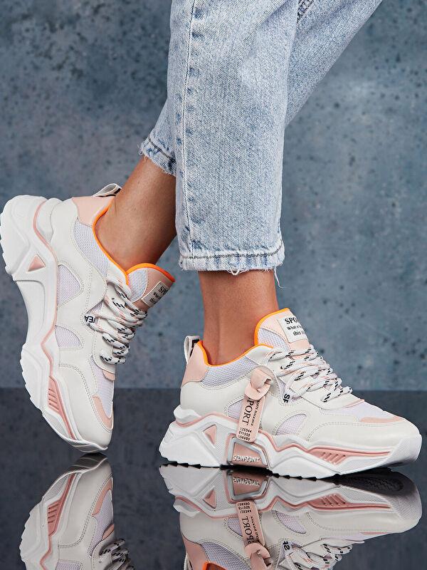 Dark Seer File Detaylı Bağcıklı Kadın Aktif Spor Ayakkabı - Markalar