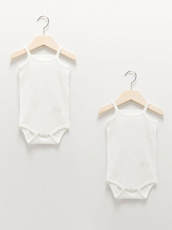 Luggi Baby Kare Yaka Kendinden Desenli Kız Bebek Çıtçıtlı Body 2'li - Markalar
