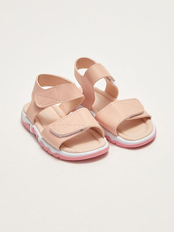 Çift Bantlı Cırt Cırtlı Kız Bebek Sandalet - LC WAIKIKI