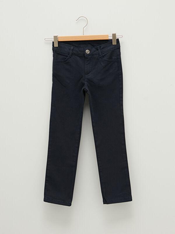 Slim Fit Gabardin Kız Çocuk Pantolon - LC WAIKIKI