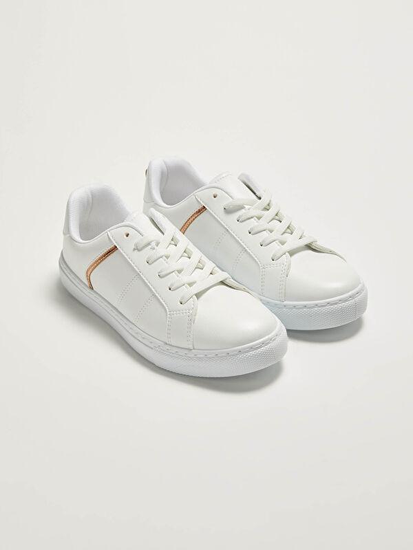 Bağcıklı Deri Görünümlü Kadın Spor Ayakkabı - LC WAIKIKI