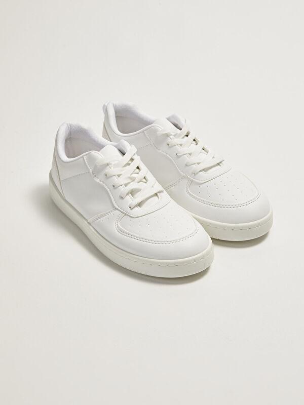Deri Görünümlü Bağcıklı Kadın Spor Ayakkabı - LC WAIKIKI