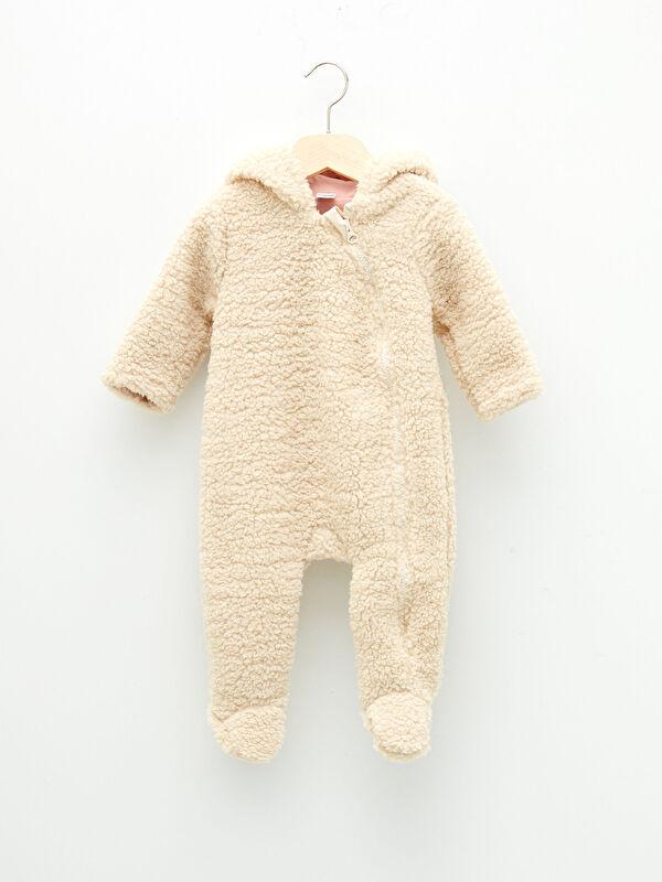 Kapüşonlu Uzun Kollu Basic Kız Bebek Fermuarlı Tulum - LC WAIKIKI