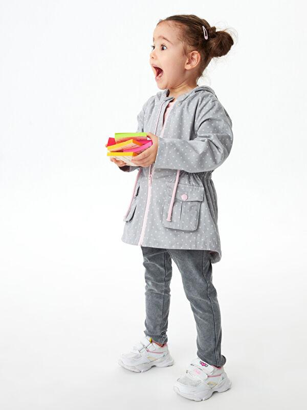 Beli Lastikli Basic Kız Bebek Jean Görünümlü Tayt - LC WAIKIKI