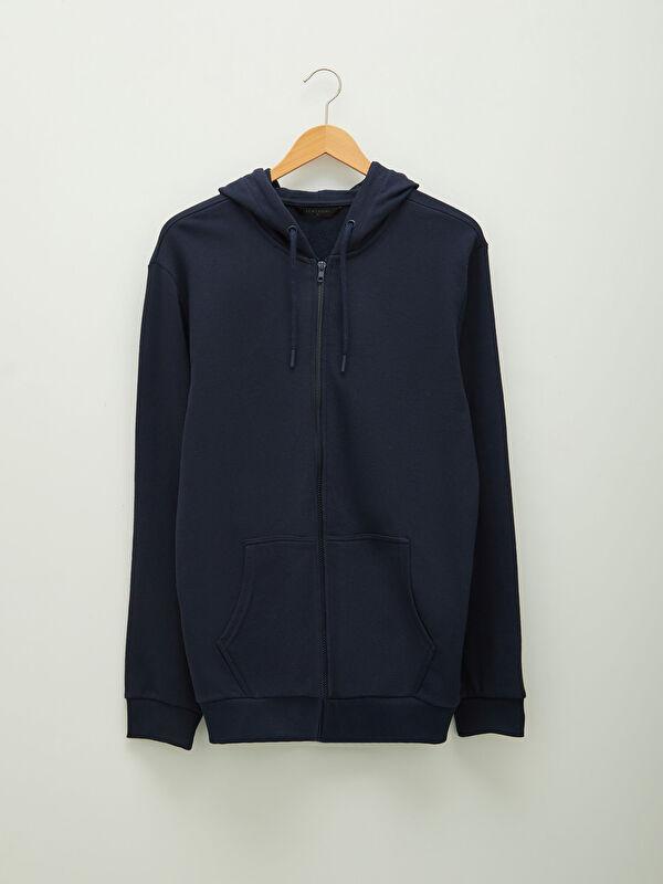 LCW CASUAL Kapüşonlu Fermuarlı Erkek Sweatshirt - LC WAIKIKI