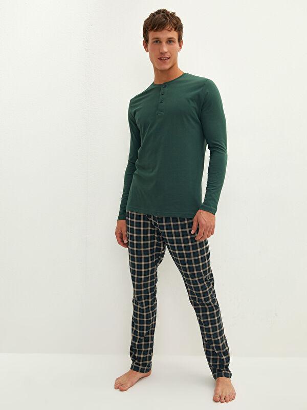 Standart Kalıp Ekose Erkek Pijama Takımı - LC WAIKIKI