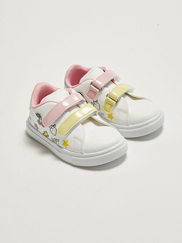 Deri Görünümlü Cırt Cırtlı Kız Bebek Spor Ayakkabı - LC WAIKIKI