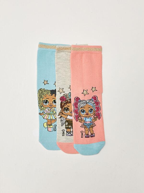 LOL Surprise OMG Lisanslı Kız Çocuk Soket Çorap 3'lü - LC WAIKIKI