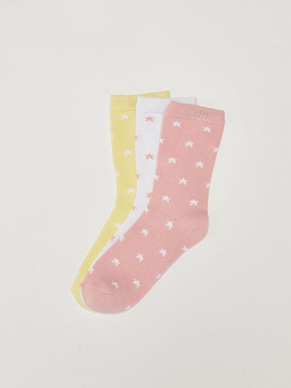 Desenli Kız Çocuk Soket Çorap 3'lü - LC WAIKIKI