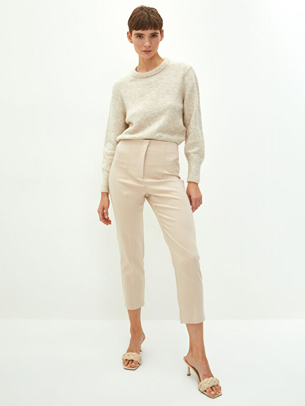 LCW VISION Yüksek Bel Standart Fit Cep Detaylı Kadın Pantolon - LC WAIKIKI