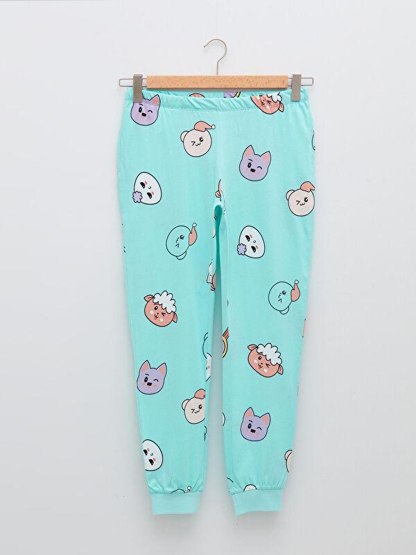 Beli Lastikli Desenli Pamuklu Kadın Pijama Alt - LC WAIKIKI