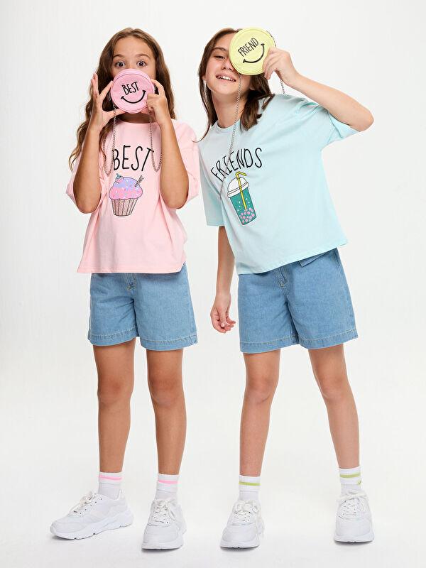 Baskılı Kız Çocuk Çapraz Çanta - LC WAIKIKI