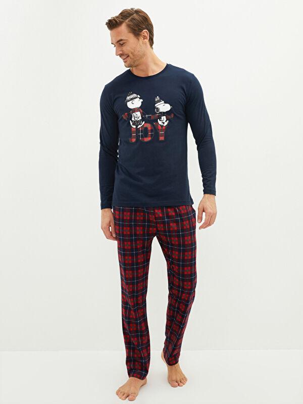 Standart Kalıp Erkek Snoopy Baskılı Pijama Takımı - LC WAIKIKI