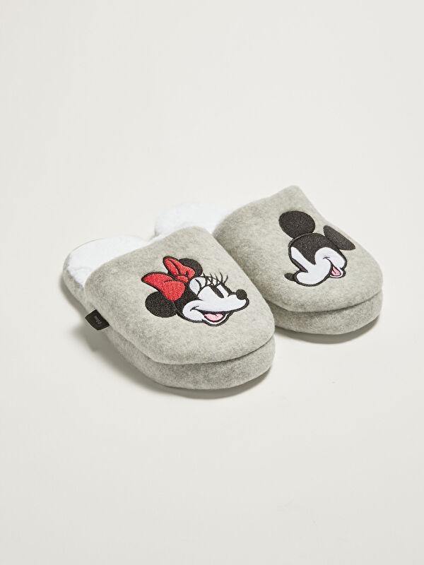 Minnie Mouse Lisanslı Nakış Detaylı Kadın Ev Terliği - LC WAIKIKI