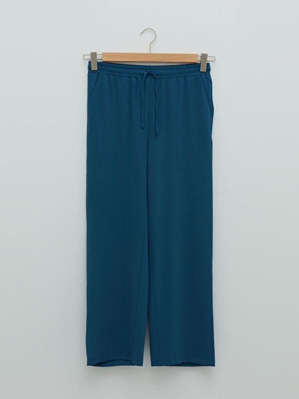 LCW LIMITED Beli Lastikli Cep Detaylı Geniş Paça Kadın Pantolon - LC WAIKIKI