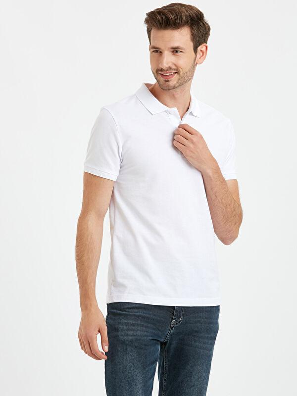 Polo Yaka Kısa Kollu Pike Basic Tişört - LC WAIKIKI