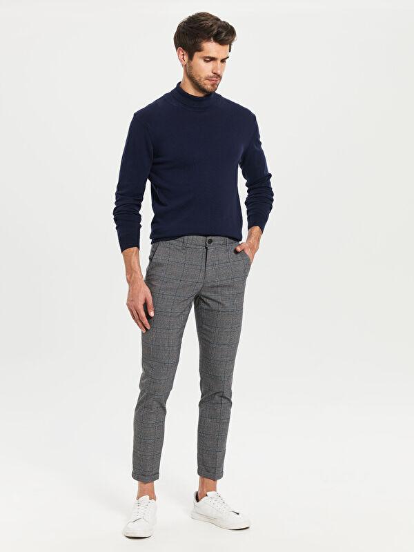 Slim Fit Bilek Boy Ekose Pantolon - LC WAIKIKI