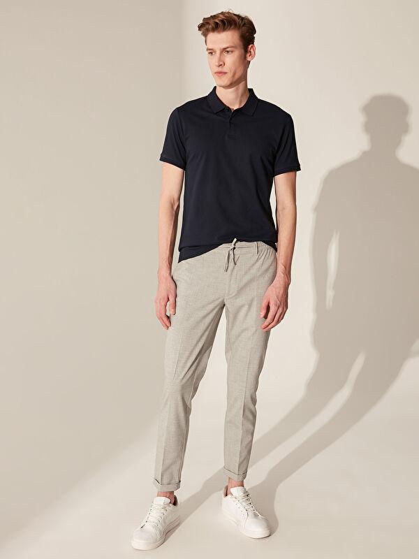Slim Fit Poliviskon Crop Pantolon - LC WAIKIKI