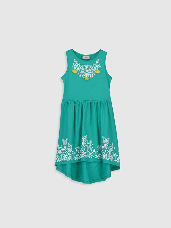 Kız Çocuk Desenli Pamuklu Elbise - LC WAIKIKI