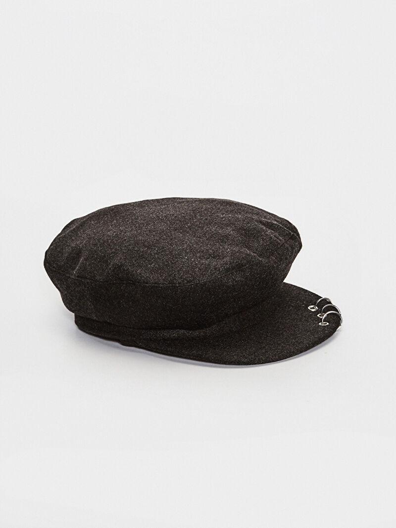 Antrasit Kaşe Şapka 7KC236Z8 LC Waikiki