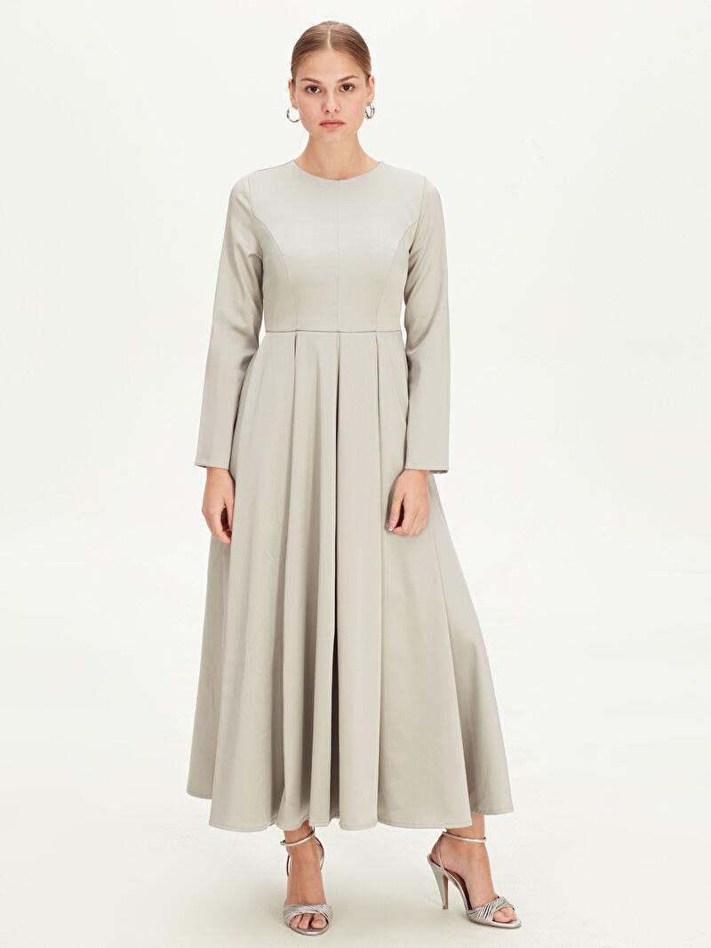 Kadın Uzun Kloş Abiye Elbise