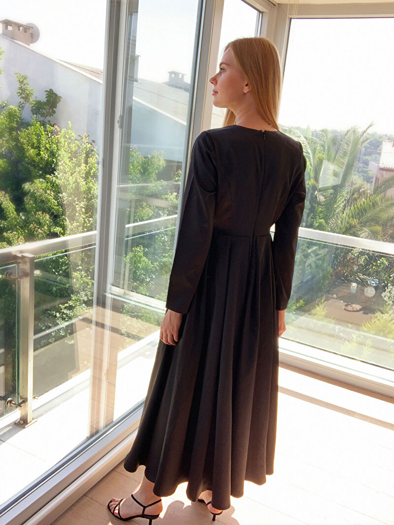9WM683Z8 Uzun Kloş Abiye Elbise