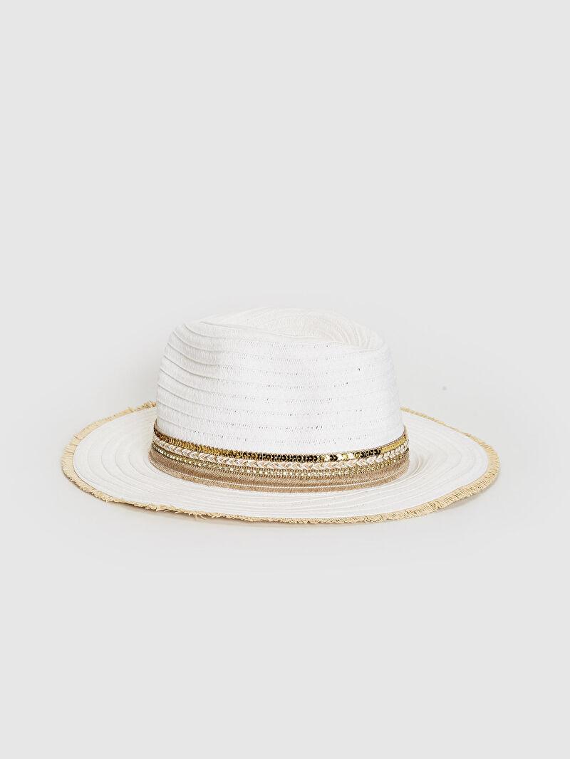 Beyaz Hasır Fötr Şapka 0S2048Z8 LC Waikiki
