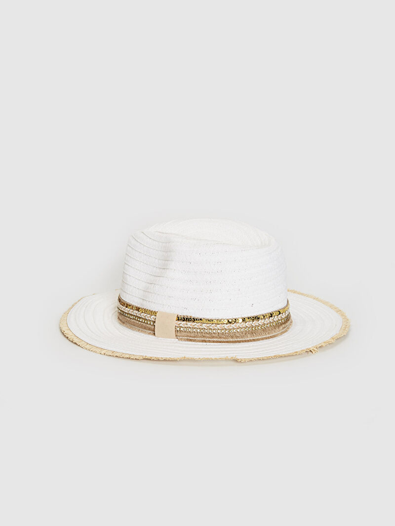 %94 Kağıt %6 Polyester  Hasır Fötr Şapka Hasır Fötr Şapka