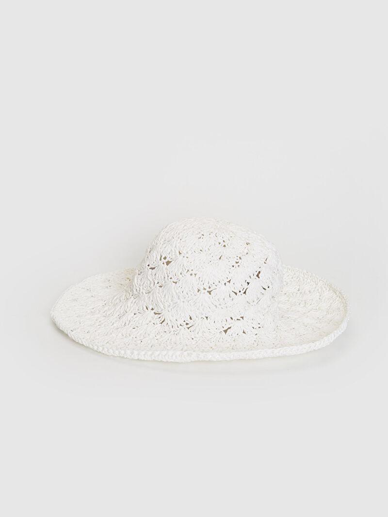 Beyaz Hasır Fötr Şapka 0S2071Z8 LC Waikiki