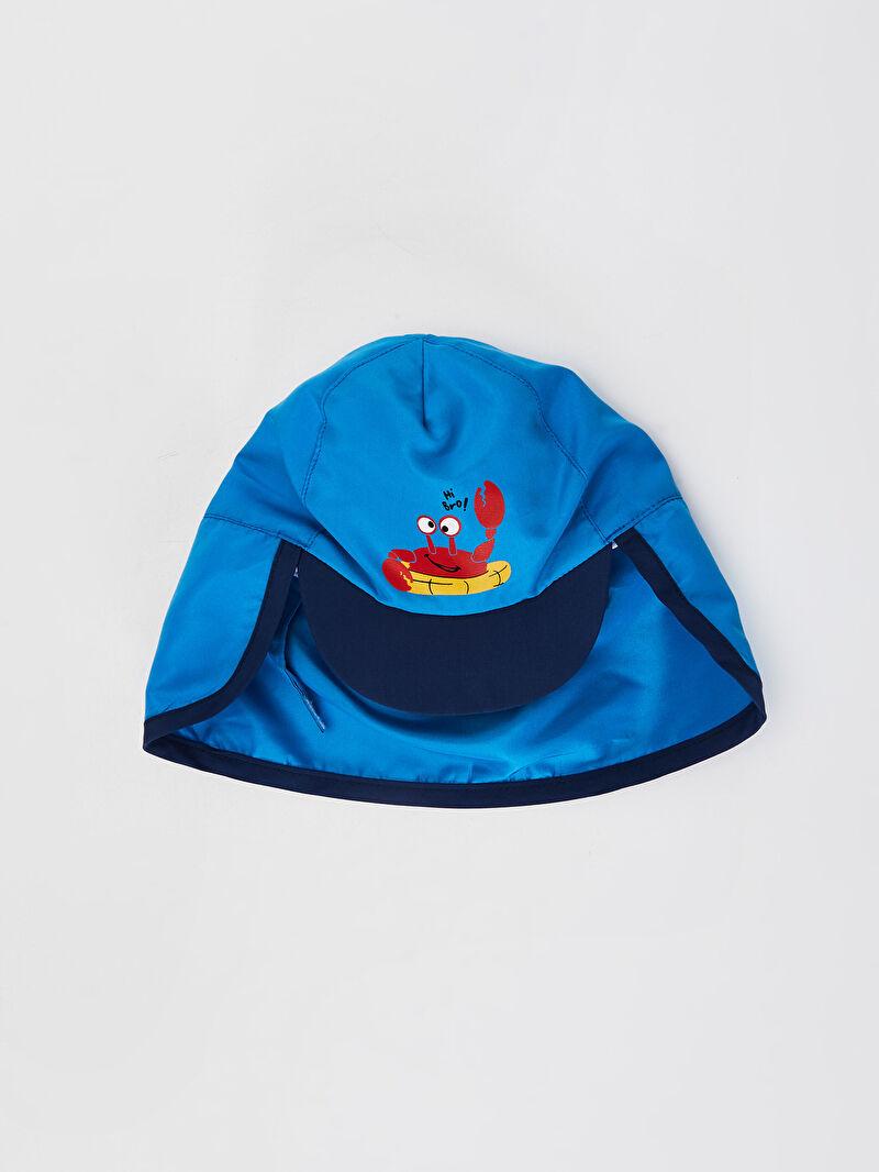 Lacivert Erkek Bebek Baskılı Şapka 0S4580Z1 LC Waikiki
