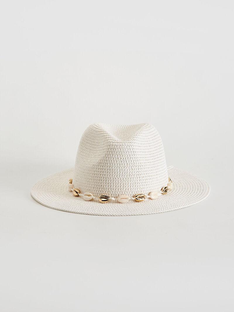 %82 Kağıt %18 Polyester  Hasır Fötr Şapka Hasır Fötr Şapka