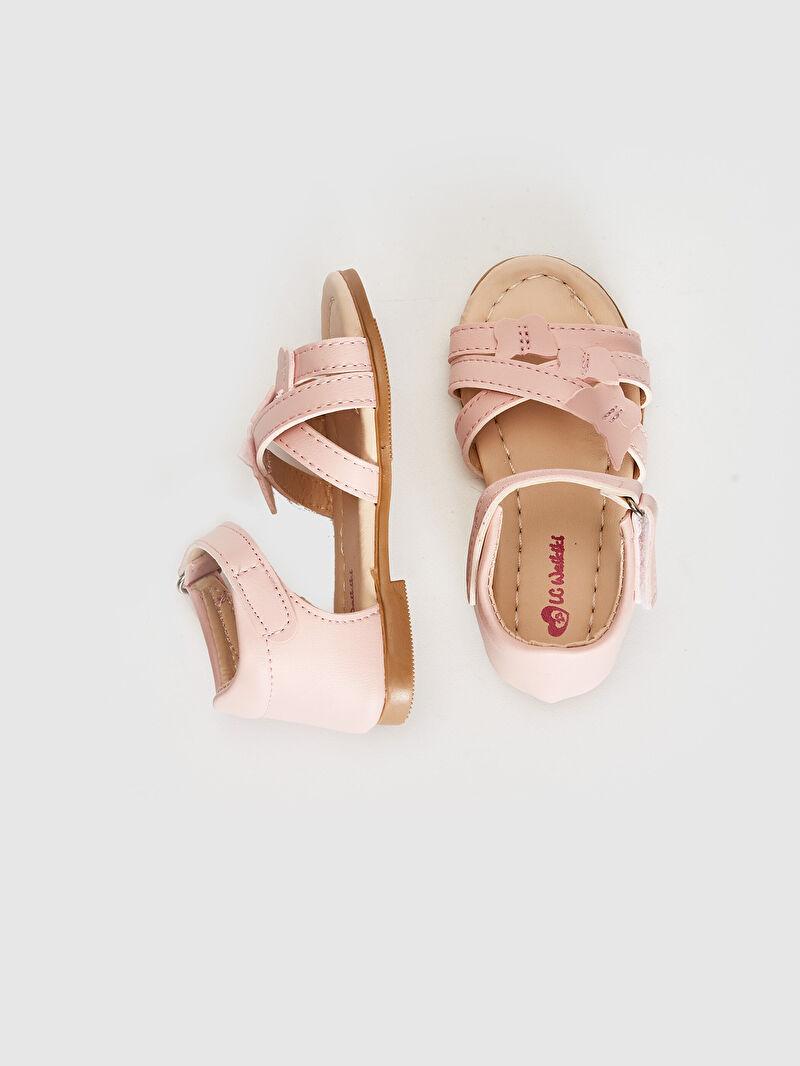 %0 Diğer malzeme (poliüretan)  %0 Diğer malzeme (termoplastik)  %0 Diğer malzeme (poliüretan)  Sandalet PU Astar Işıksız Cırt Cırt Kız Bebek Çapraz Bant Detaylı Sandalet