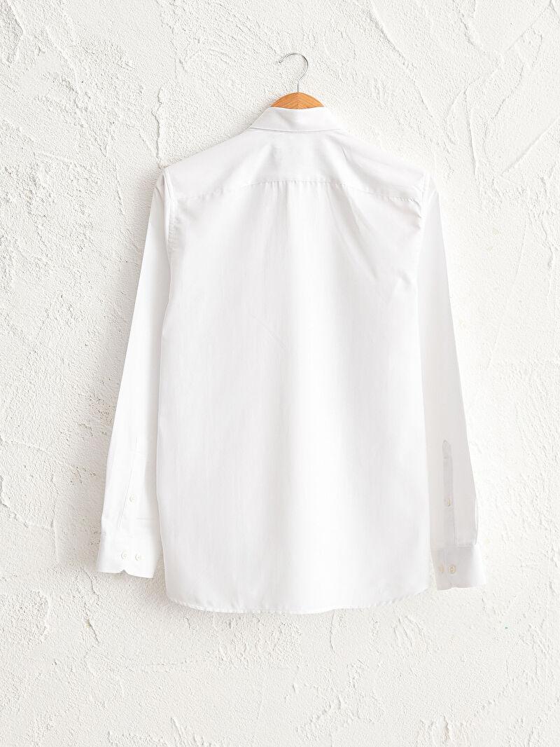 %53 Pamuk %47 Polyester  Slim Fit Oxford Gömlek