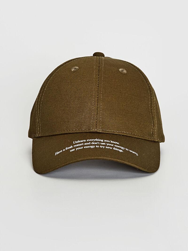 Haki Yazı Detaylı Gabardin Şapka 0W1068Z8 LC Waikiki
