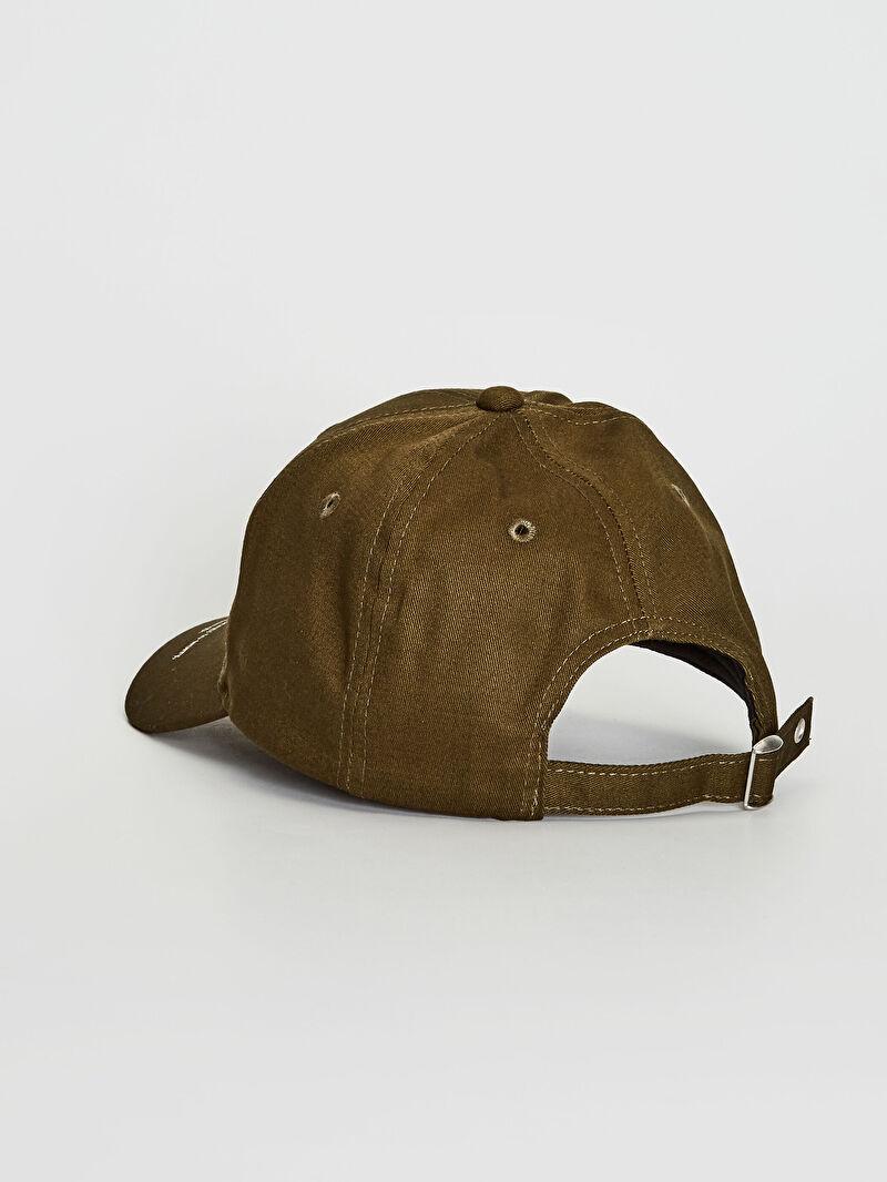 Kadın Yazı Detaylı Gabardin Şapka