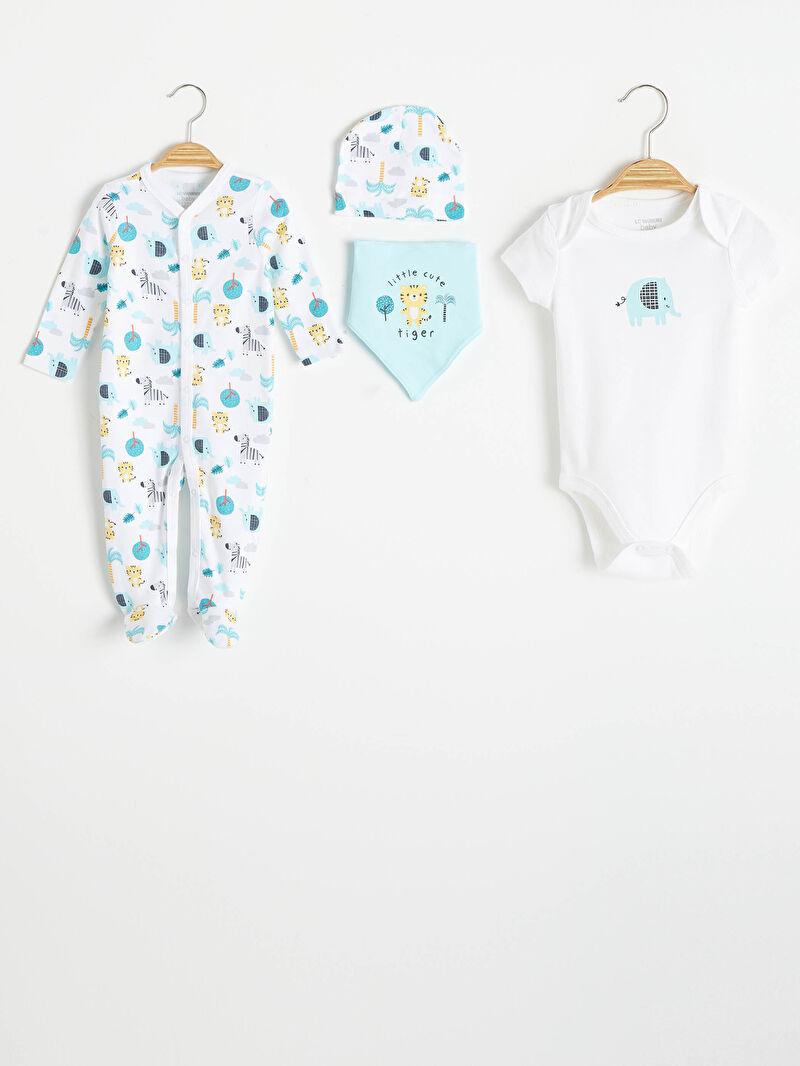 Beyaz Erkek Bebek Hastane Çıkış Seti 0W2102Z1 LC Waikiki