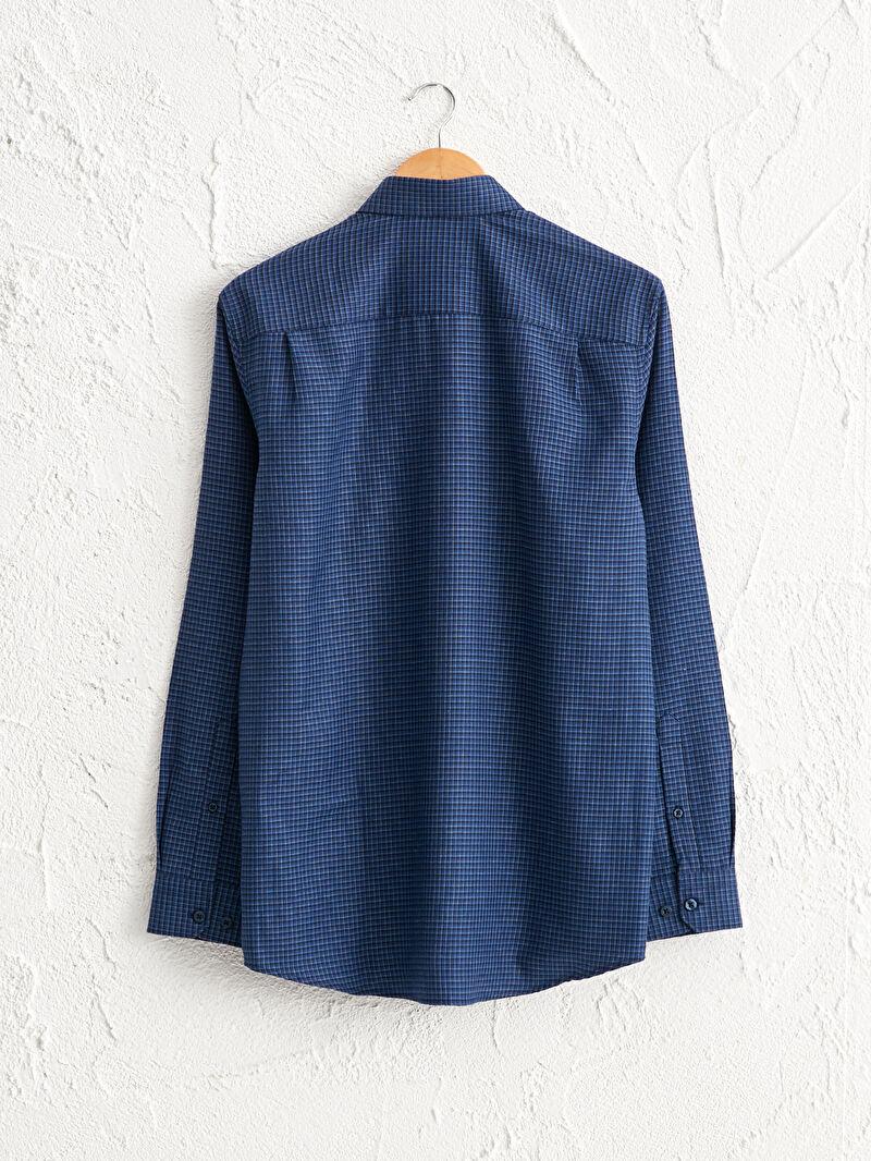 %58 Pamuk %42 Polyester  Regular Fit Uzun Kollu Gabardin Gömlek