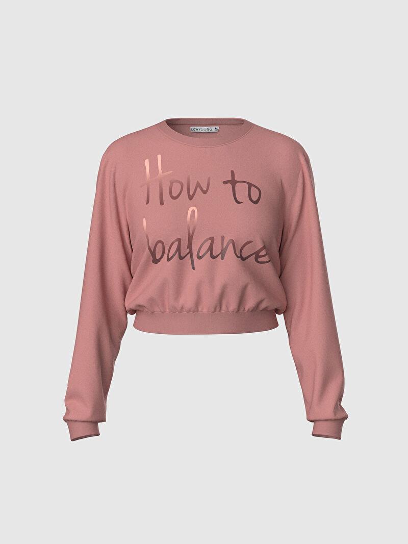 %100 Pamuk  %100 Pamuk  %100 Pamuk Sweatshirt Kumaşı Bisiklet Yaka Orta Kalınlık Uzun Kol Pijama Takım Standart Işıltılı Yazı Baskılı Pijama Takımı