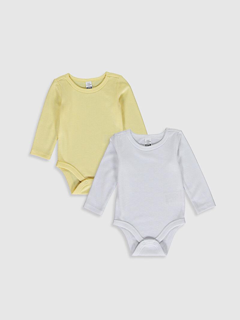 Sarı Kız Bebek Çıt Çıtlı Body 2li 0W6799Z1 LC Waikiki