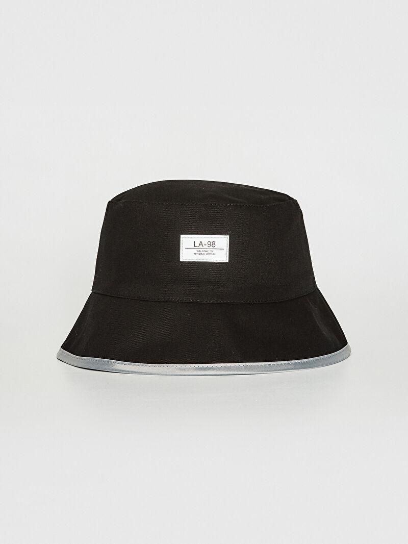 Siyah Desenli Bucket Şapka 0W6827Z8 LC Waikiki