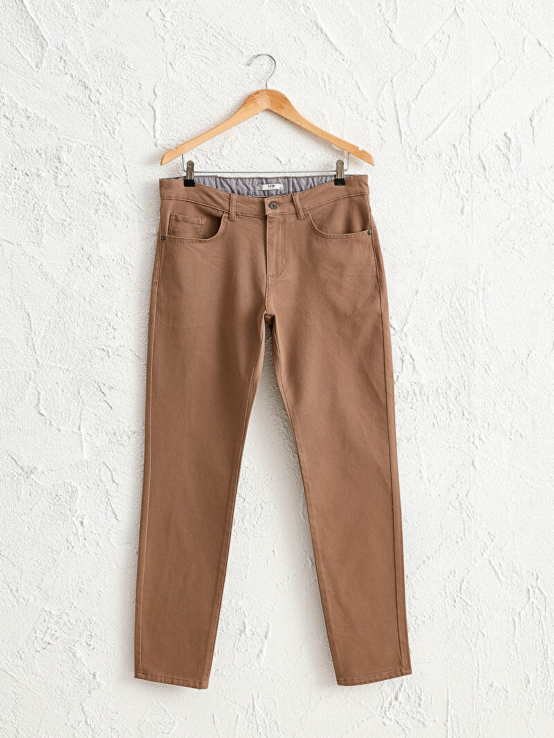Bej Slim Fit Gabardin Pantolon 0W7536Z8 LC Waikiki