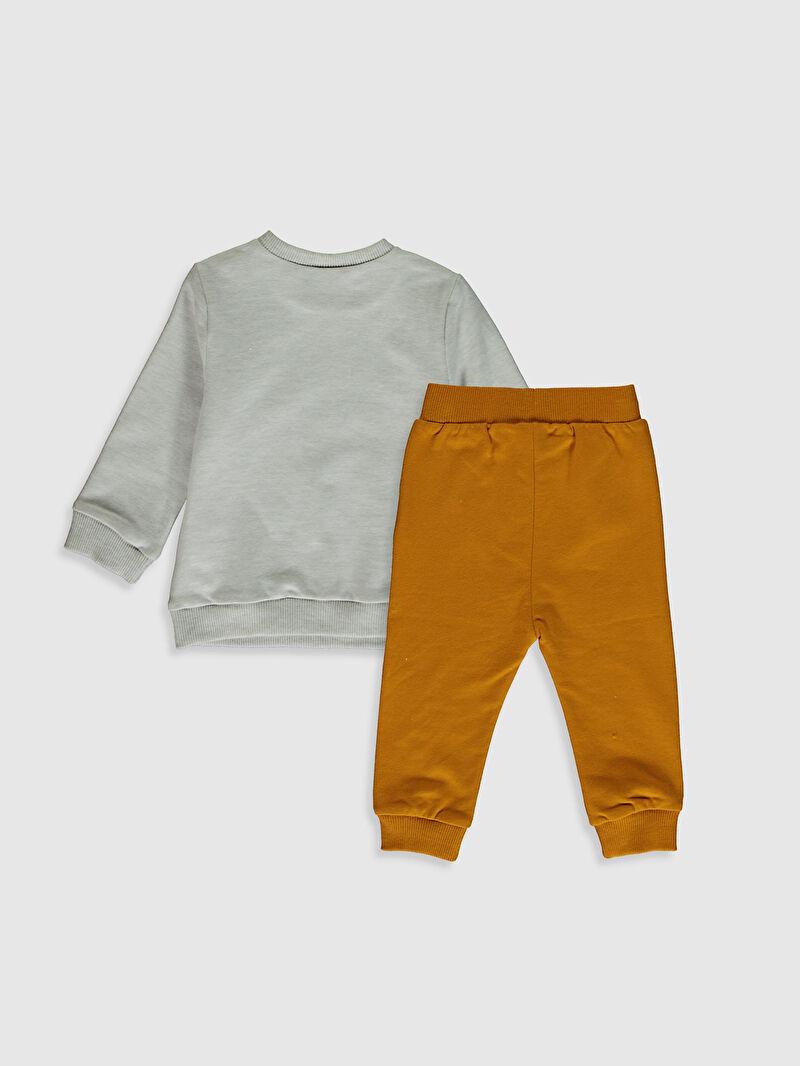 %96 Pamuk %4 ELASTAN  %92 Pamuk %5 Polyester %3 ELASTAN  Aksesuarsız Takım Yüksek Pamuk İçerir Sweatshirt Kumaşı Erkek Bebek Sweatshirt ve Pantolon