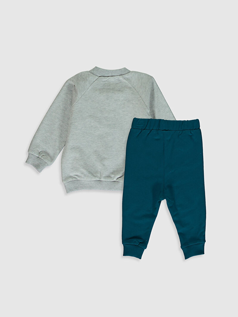 %95 Pamuk %5 ELASTAN  %96 Pamuk %4 ELASTAN  %96 Pamuk %4 ELASTAN  Aksesuarsız Yüksek Pamuk İçerir Sweatshirt Kumaşı Takım Erkek Bebek Takım 3'lü
