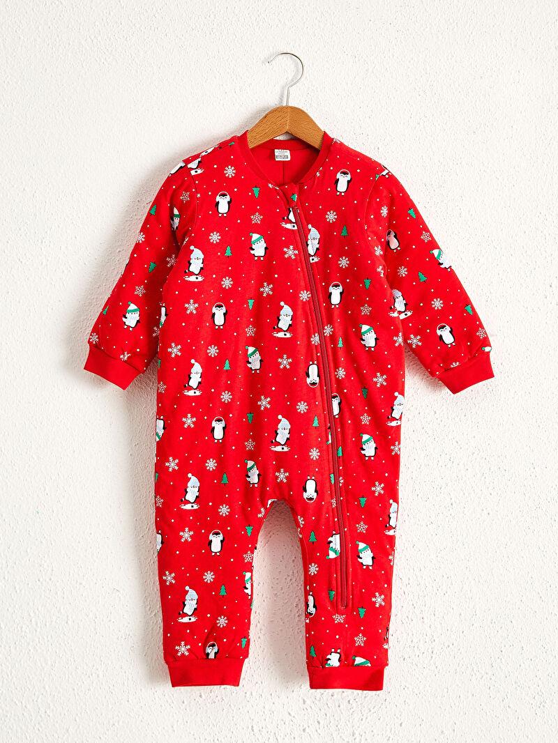 Kırmızı Kız Bebek Yılbaşı Temalı Uyku Tulumu 0W7897Z1 LC Waikiki