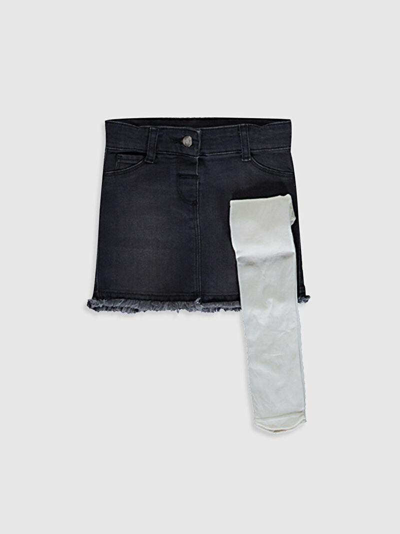 Gri Kız Bebek Jean Etek ve Külotlu Çorap 0W9830Z1 LC Waikiki