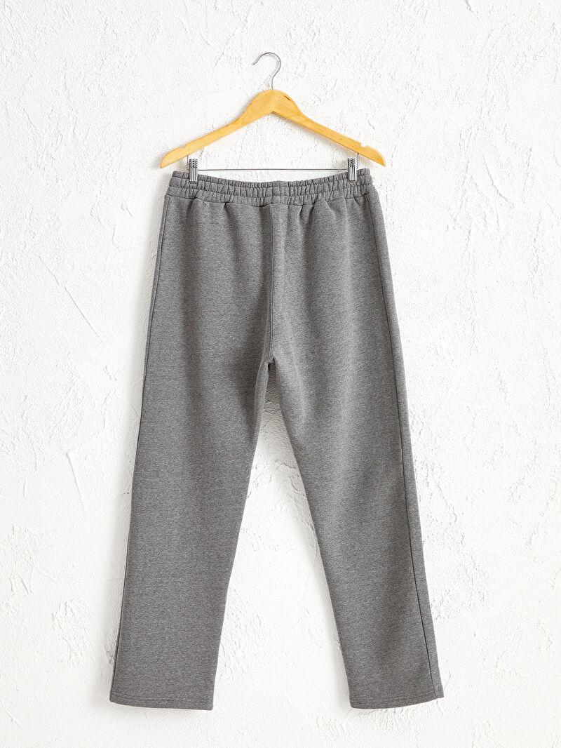%55 Polyester %45 Pamuk  Kalın Sweatshirt Kumaşı Eşofman Altı Standart Kalıp Eşofman Altı