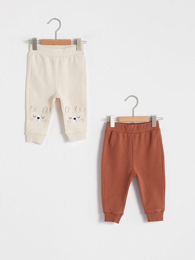 Bej Erkek Bebek Pantolon 2'li 0WH358Z1 LC Waikiki