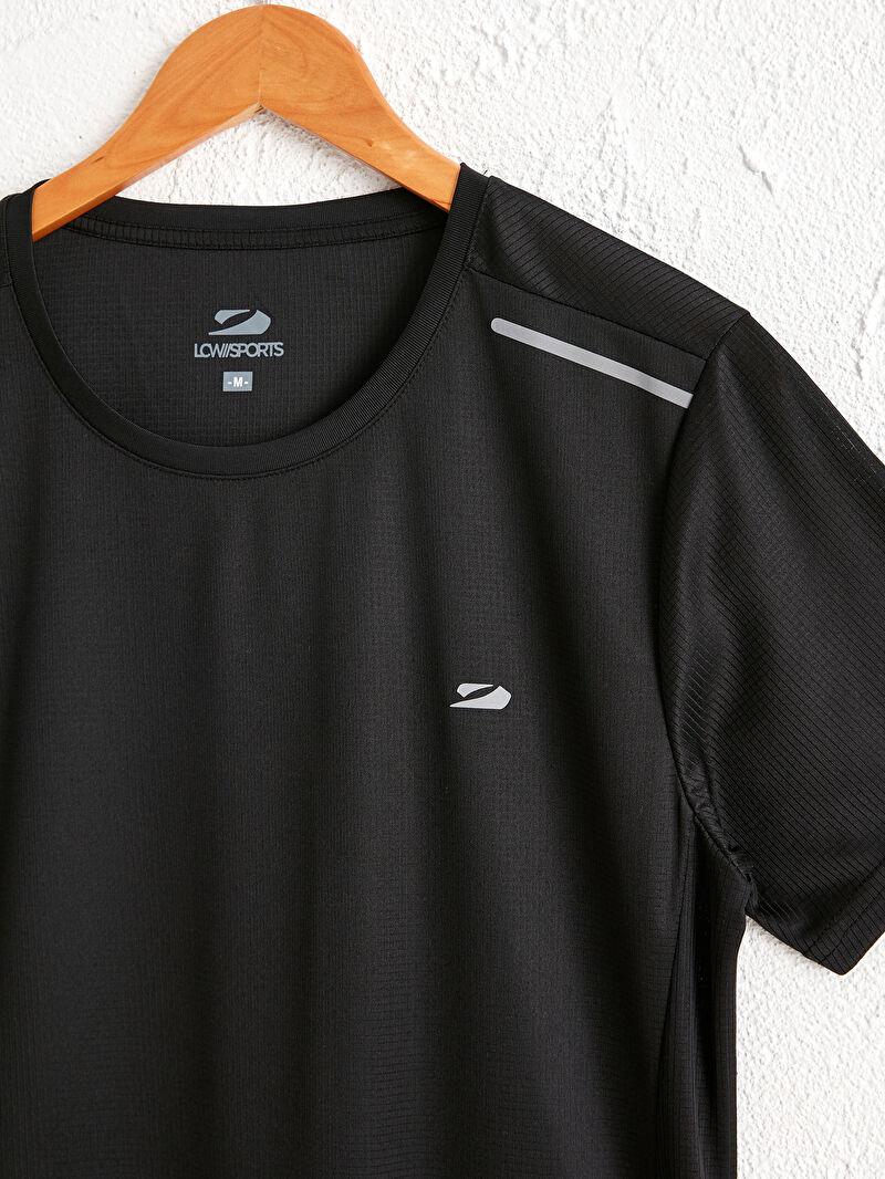 Erkek Bisiklet Yaka Kısa Kollu Aktif Spor Tişört