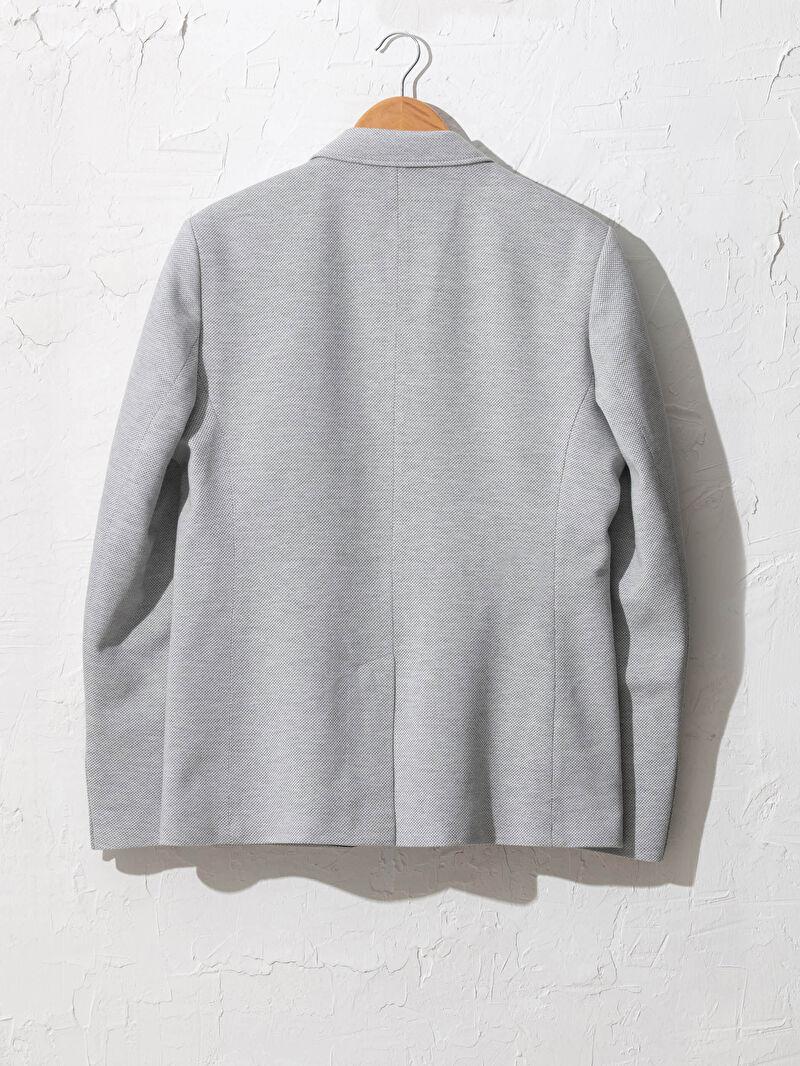 %60 Pamuk %40 Polyester  %100 Polyester  Blazer Ceket Blazer Pike İnce Dar Uzun Kol Dar Kalıp Blazer Ceket
