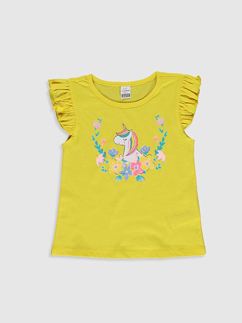 Kız Bebek Kız Bebek Baskılı Tişört Ve Şort